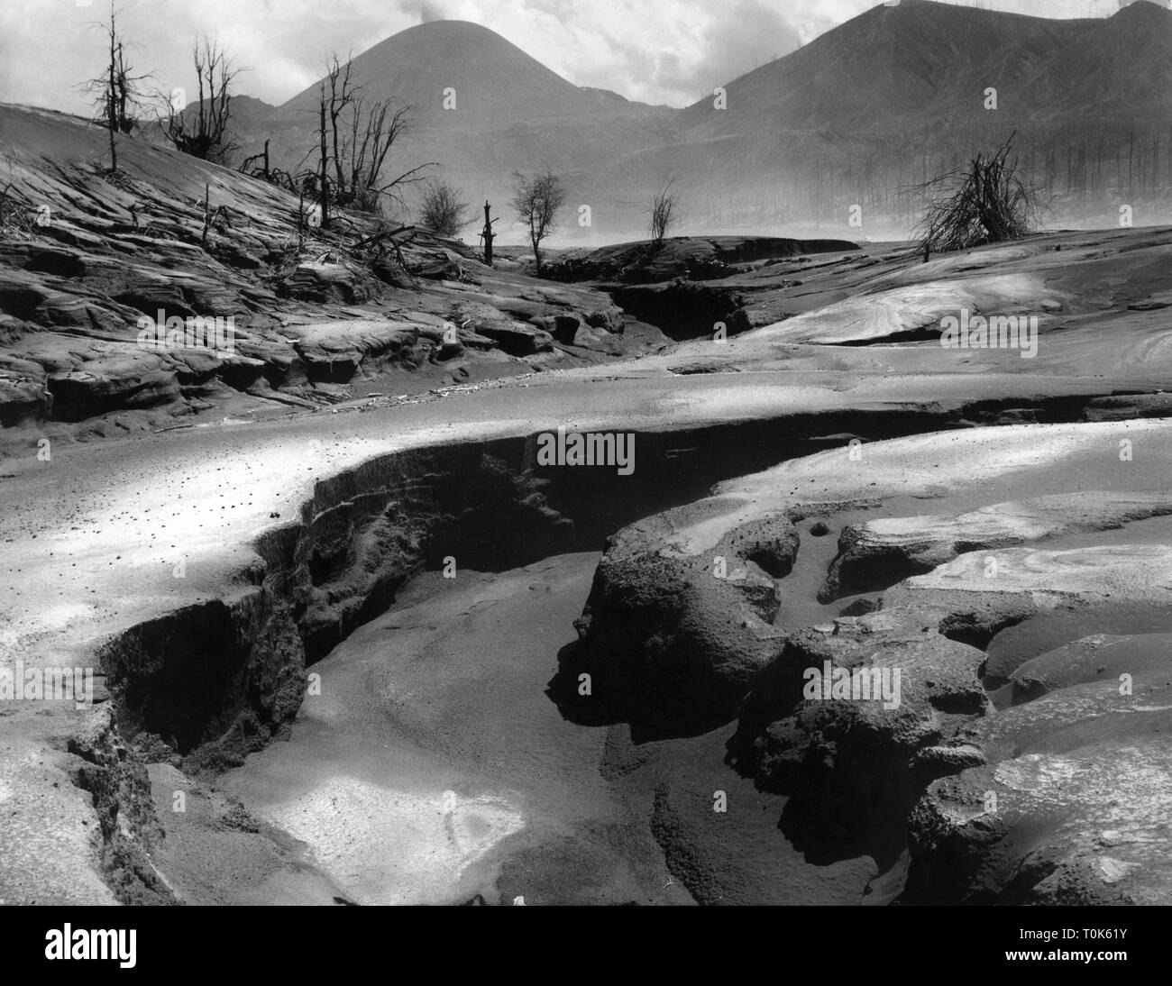 Geographie/Reisen, Mexiko, Landschaften, Lava und Asche, 1950er Jahre, Additional-Rights - Clearance-Info - Not-Available Stockbild