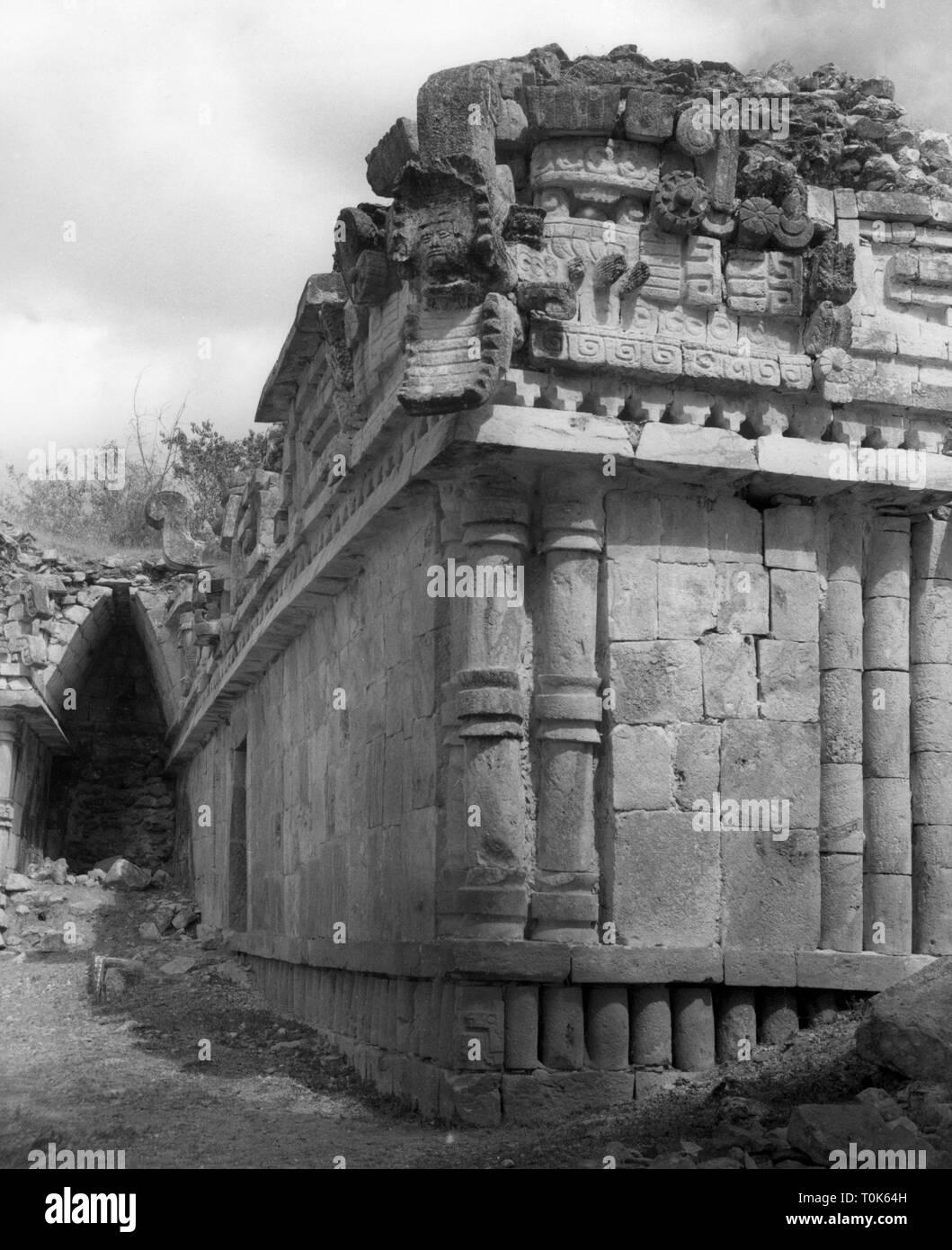 Geographie/Reisen, Mexiko, Labna, Gebäude, Palast, Außenansicht, 1960er Jahre, Additional-Rights - Clearance-Info - Not-Available Stockbild