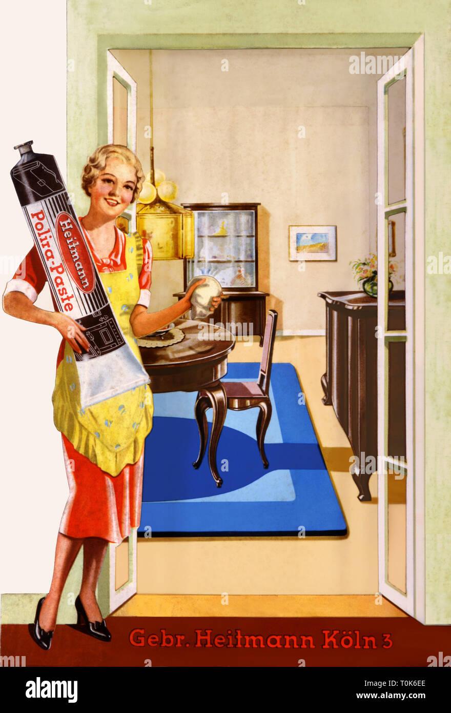 Haushalt, sauber, Werbung für Polira polnischen von Heitmann ...