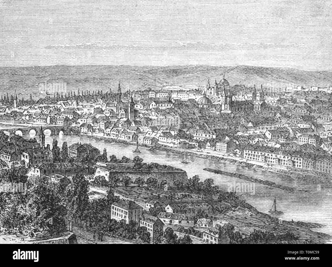 Geographie/Reisen, Deutschland, Würzburg, Aussicht, Holzstich, ca. 1880, Artist's Urheberrecht nicht geklärt zu werden. Stockbild