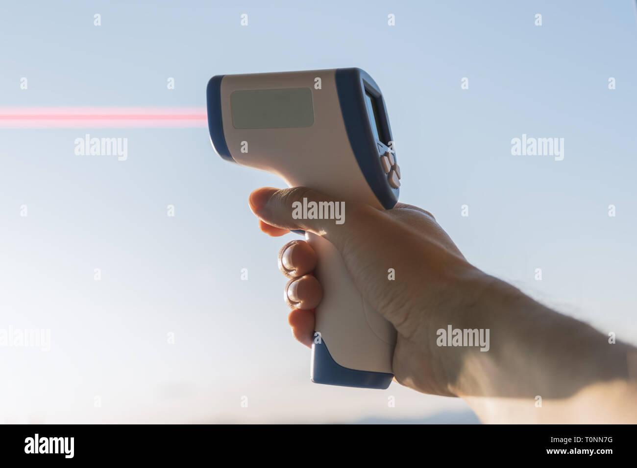 Laser entfernungsmesser stockfotos laser entfernungsmesser
