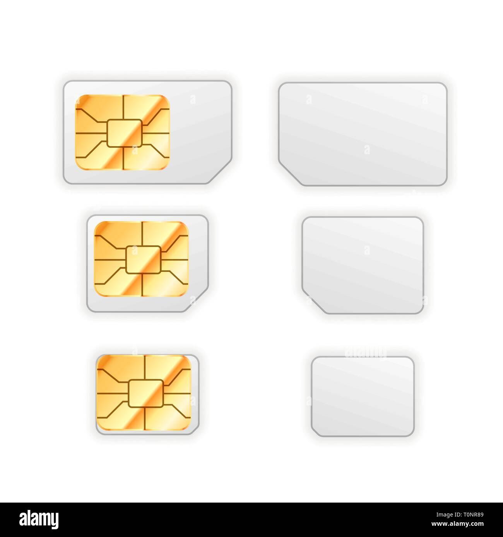 Nano Sim Karte.Satz Von Leer Standard Mikro Und Nano Sim Karte Für Handy Mit