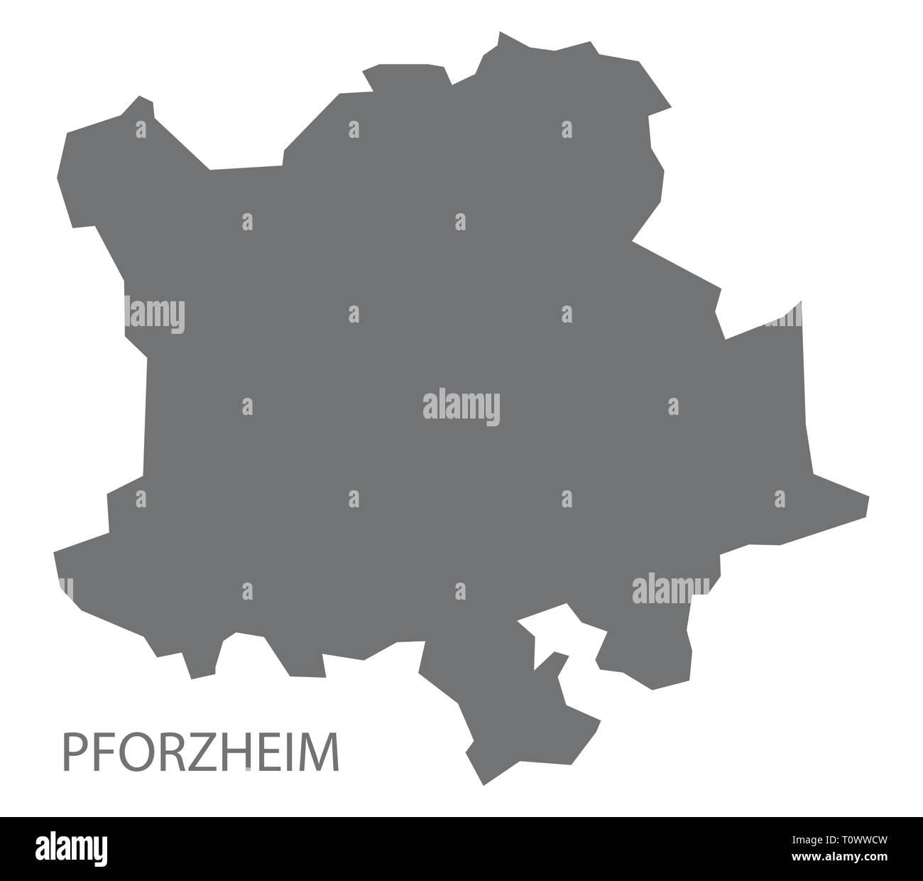 Pforzheim Karte.Pforzheim Grafschaft Karte Von Baden Württemberg Deutschland Vektor