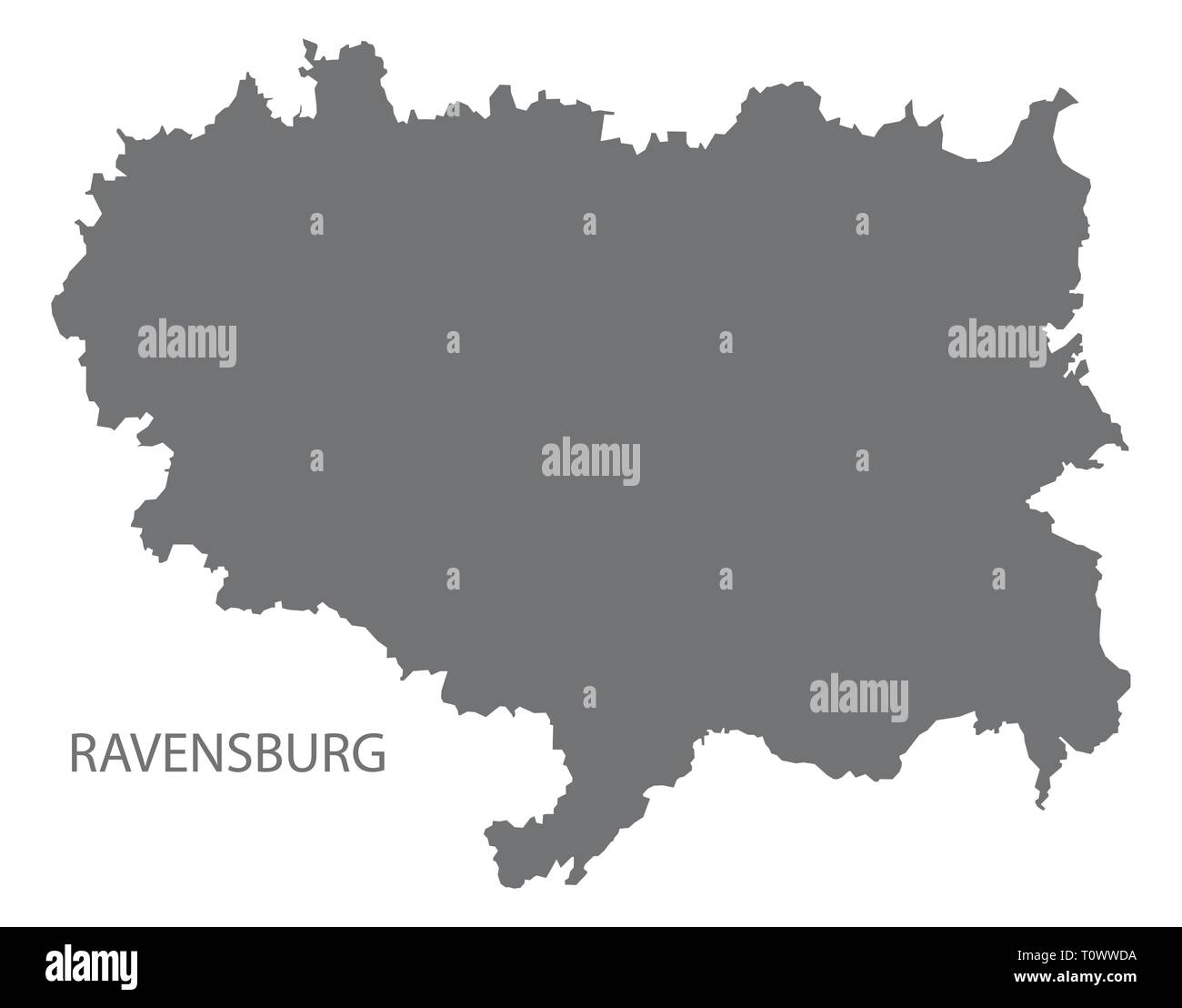 Kreis Ravensburg Karte Von Baden Wurttemberg Deutschland Vektor