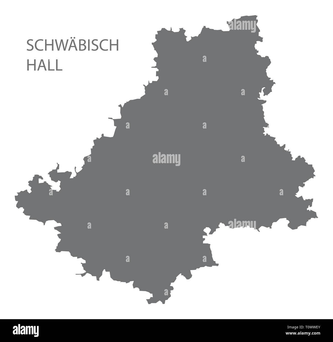 Schwaebisch Hall County Karte Von Baden Wurttemberg Deutschland