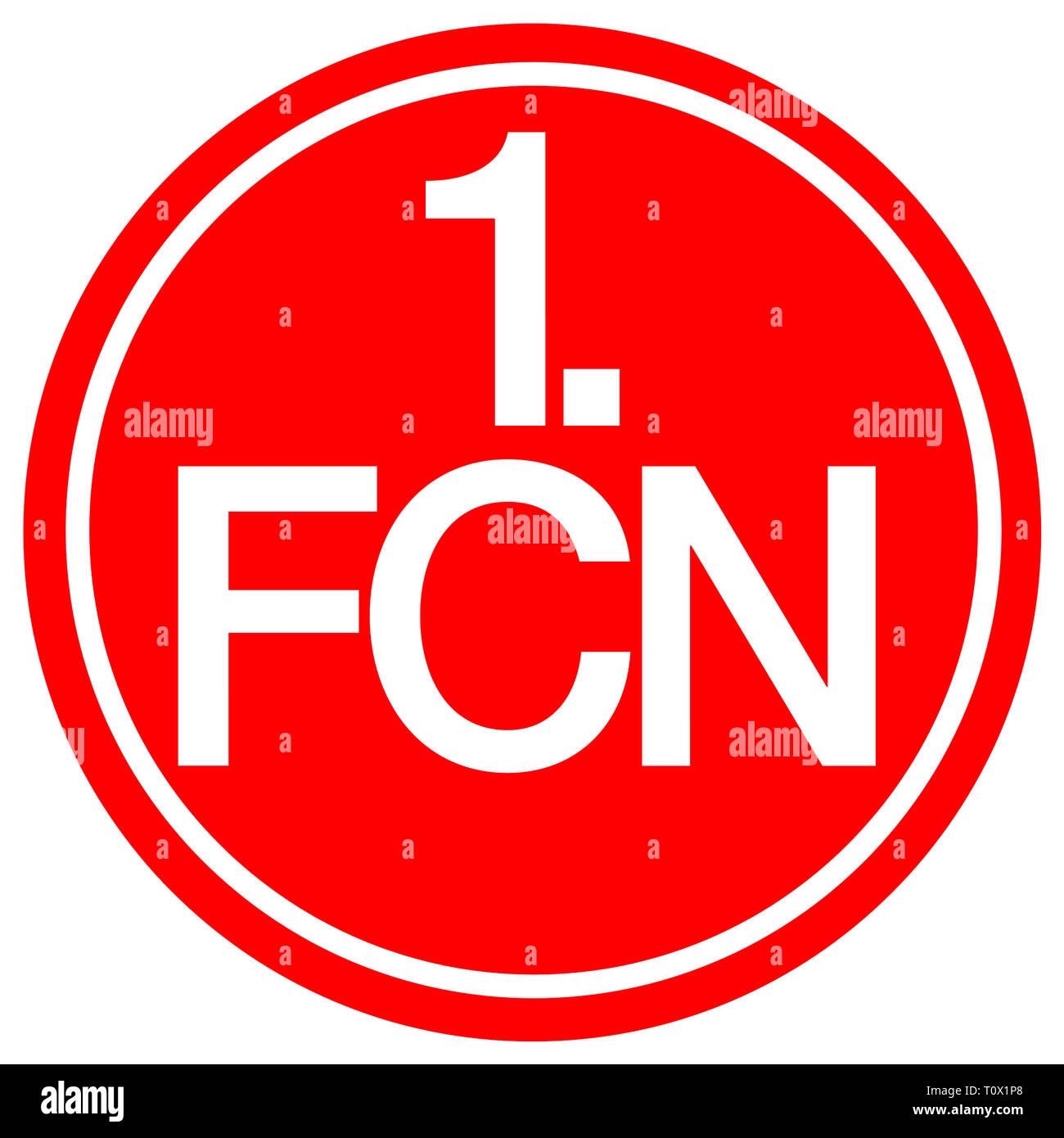 Logo der Deutschen Fußball-Nationalmannschaft 1. FC Nuernberg - Deutschland. Stockbild