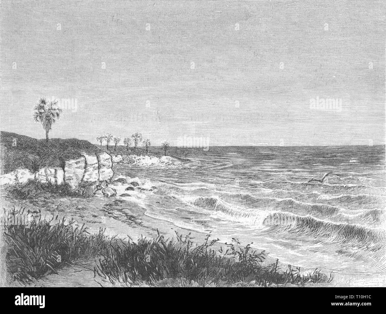 Geographie/Reisen historische, Namibia, Küste, Holzstich, ca. 1880, Artist's Urheberrecht nicht geklärt zu werden. Stockbild