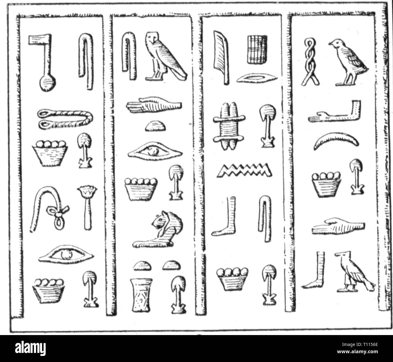 Ägyptisches alphabet zum ausdrucken  mein altagypten