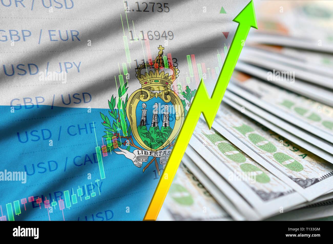 San Marino Flag Wavy Flag Stockfotos & San Marino Flag Wavy ...