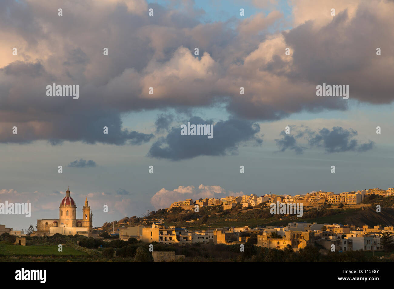 Malta, Gozo, Xaghra, Stadtbild Stockbild