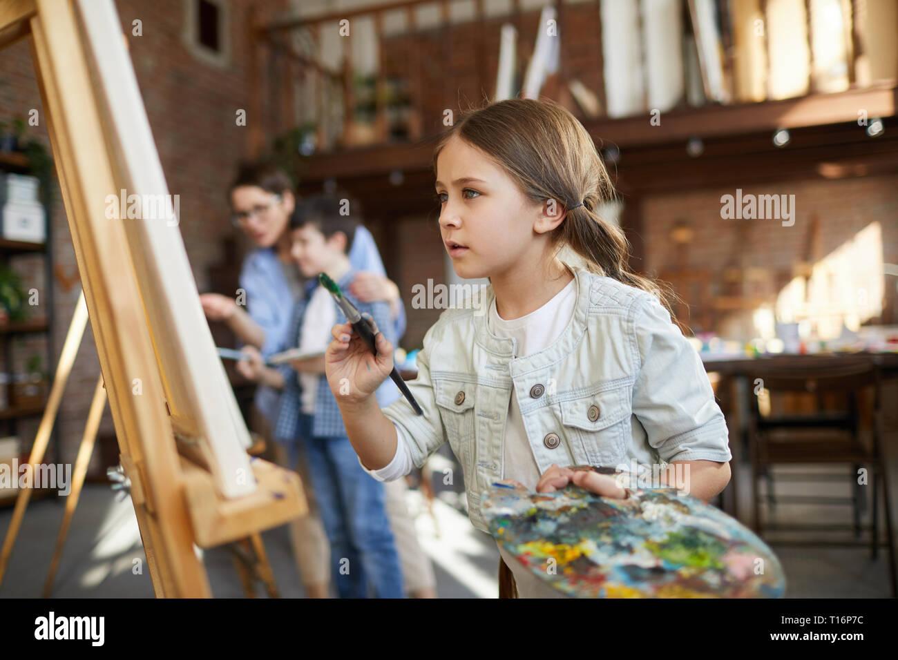Begabte kleine Künstler Stockbild
