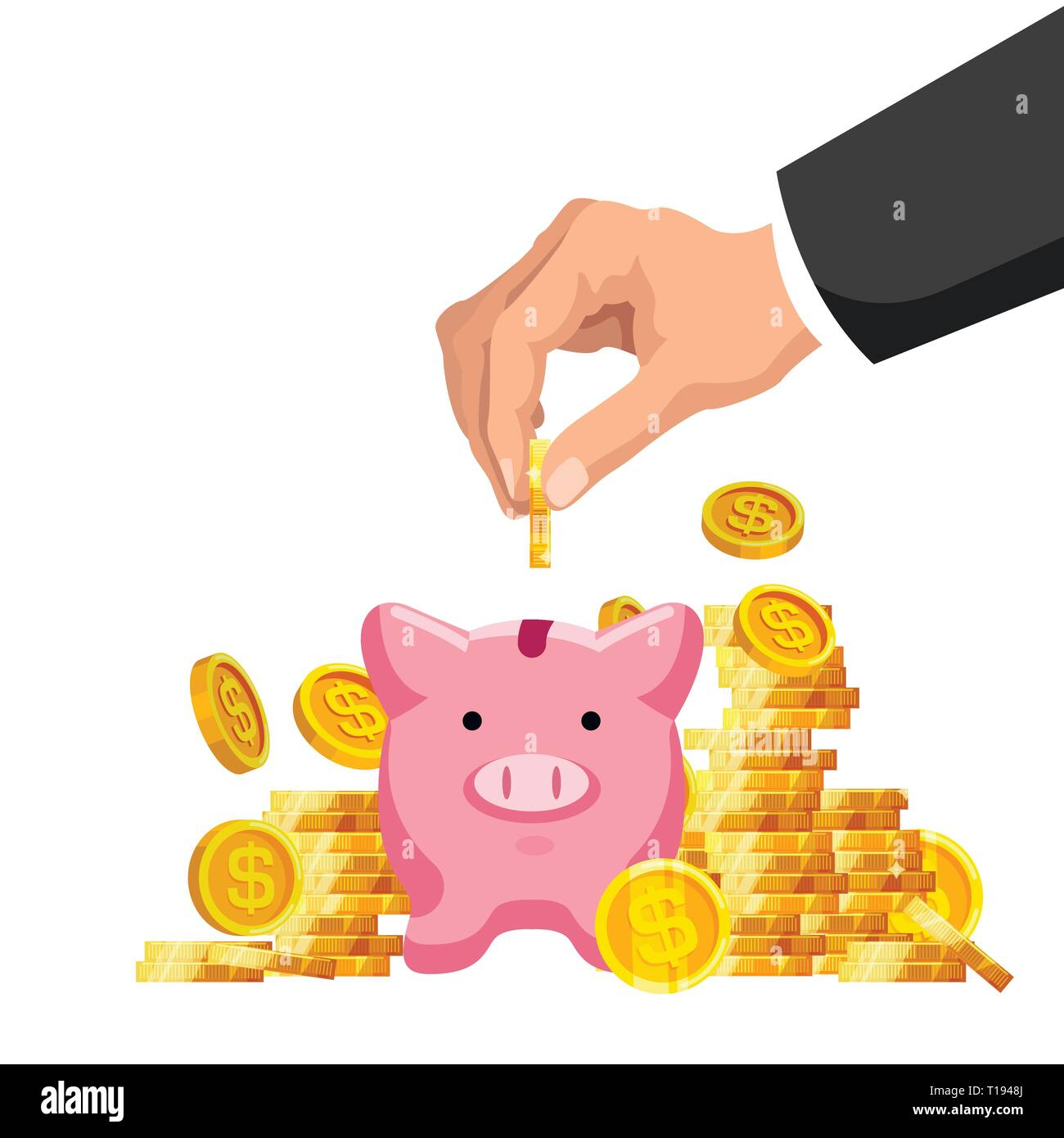 Geld sparen Konzept Stock Vektor