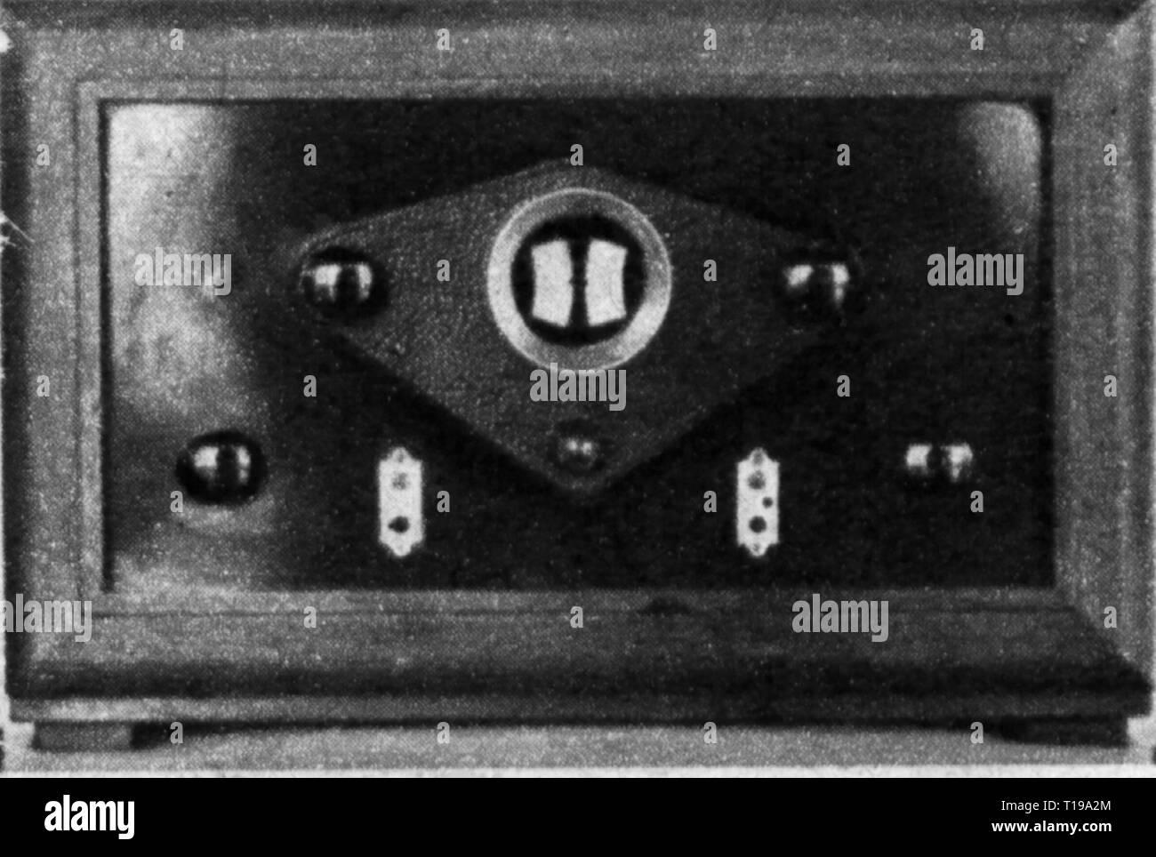 Rundfunk, Radio, Radios, Lenkung Funkempfänger, Deutschland, 1928, Additional-Rights - Clearance-Info - Not-Available Stockbild
