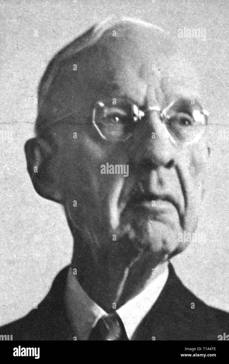 "Religion, Sekte, Mormon, Rudger Clawson, 1857 - 1943, Präsident der Zwölf Apostel, Porträt, aus: ""Life Magazine"", New York, Januar 1938, Additional-Rights - Clearance-Info - Not-Available Stockbild"