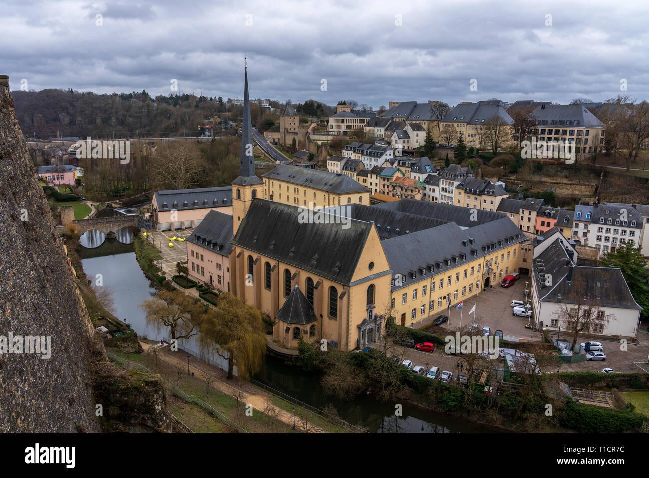 Der Abtei Neumünster in Luxemburg-Stadt. Stockbild