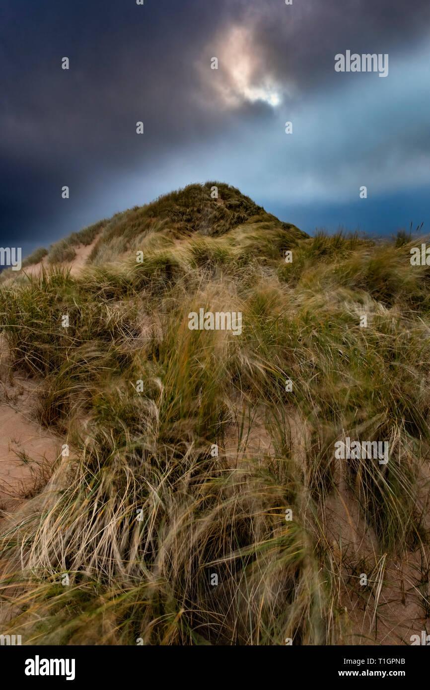 Berg der Marram, Marram Gras Düne, balnakeil Strand, in der Nähe von Durness, Sutherland, North West Highlands, Schottland, Großbritannien Stockbild