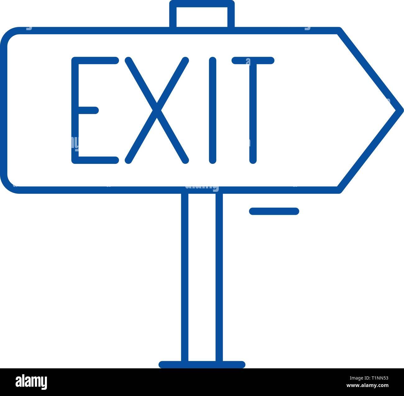 Ausgabe Symbol Leitung Konzept. Ausgabe flachbild Vektor Symbol, Zeichen, umriss Abbildung. Stockbild