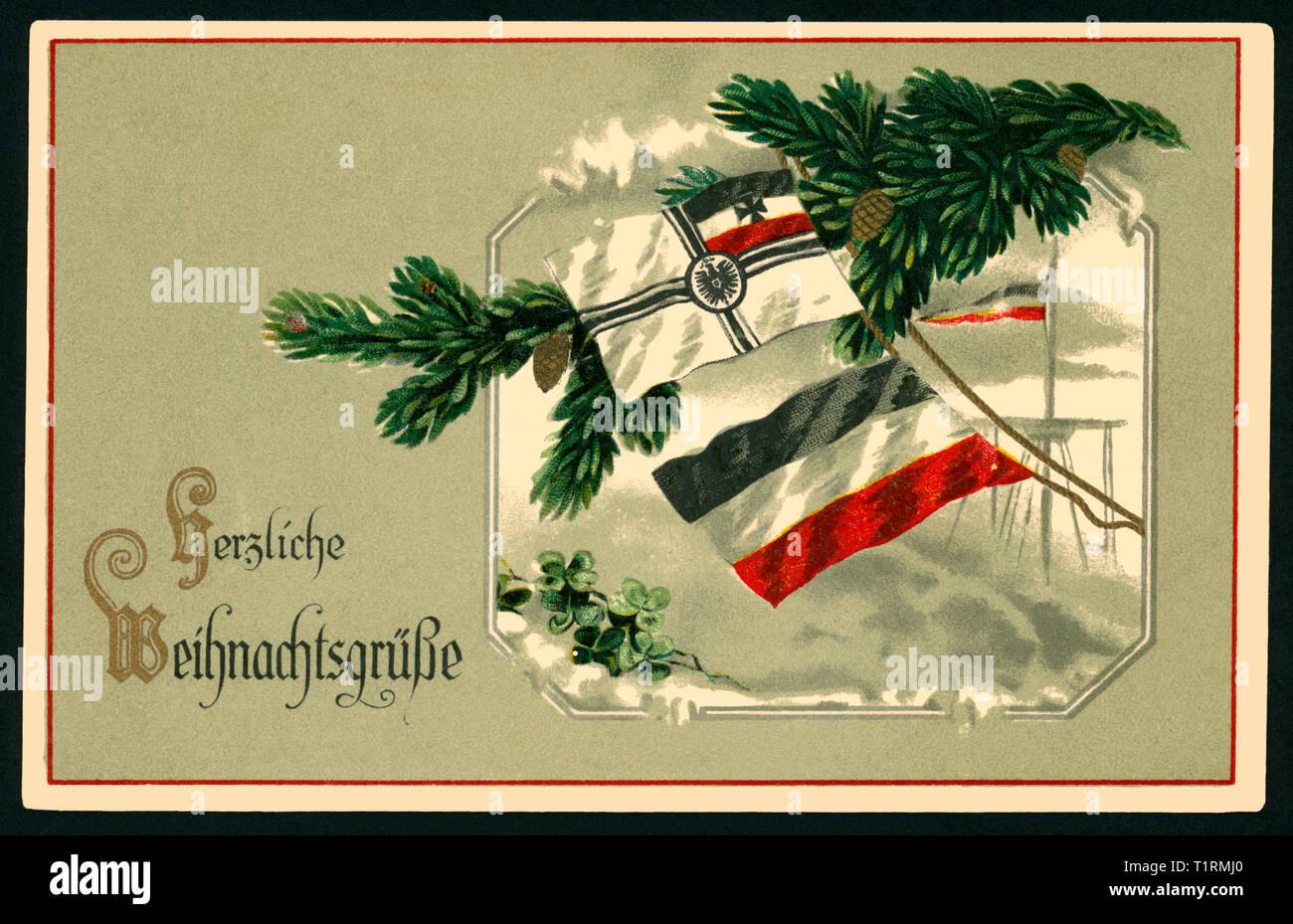 Weihnachtsgrüße Postkarte.Deutschland Hamburg Wk I Propaganda Patriotischen Weihnachten