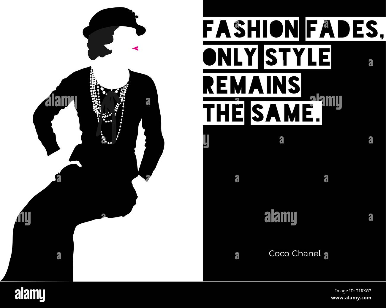 Fashion Coco Chanel Stockfotos Fashion Coco Chanel Bilder