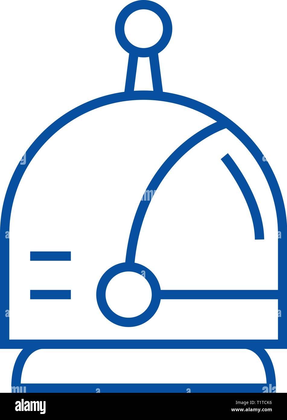 Spaceman Kopf Symbol Leitung Konzept. Spaceman Kopf, flache Vektor Symbol, Zeichen, umriss Abbildung. Stockbild