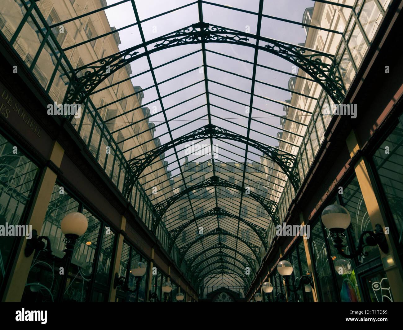 Passage des Princes, Boulevard des Italiens, Paris, Frankreich Stockbild