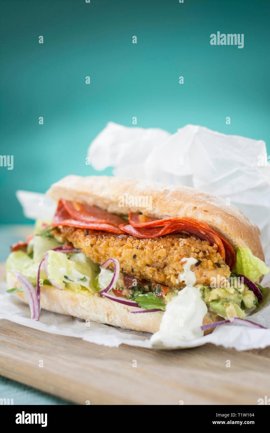 Chicken burger Stockbild