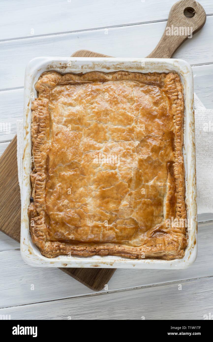 In der Wochenmitte Chicken Pie Rezept Stockbild