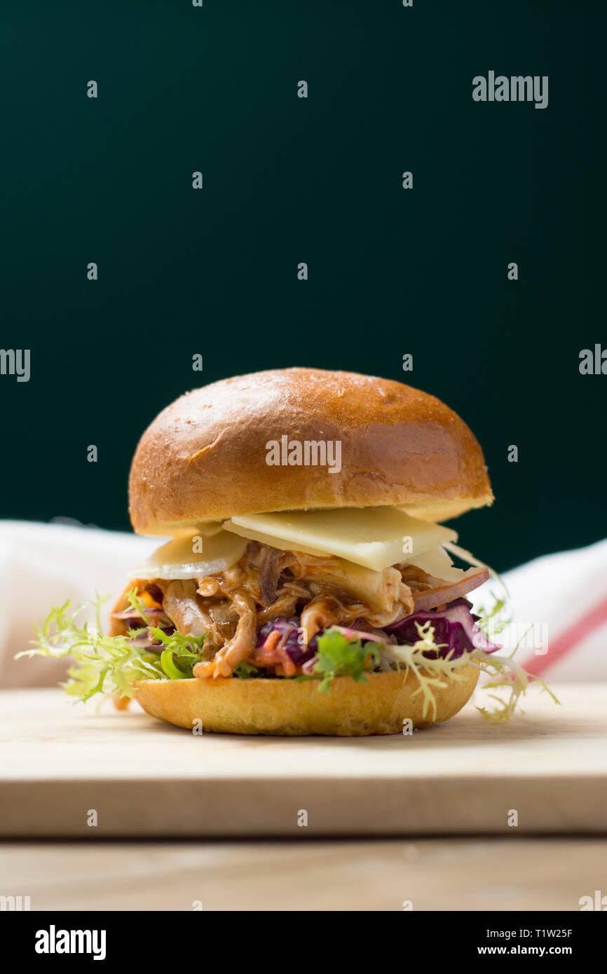 Zog Chicken Burger Rezept Stockbild