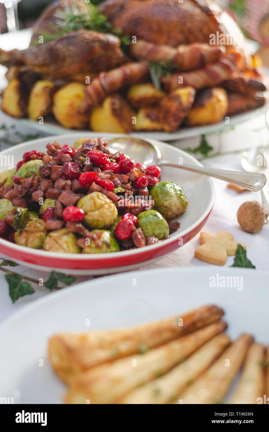 Braten Weihnachten Türkei bereit, um bedient zu werden. Stockbild
