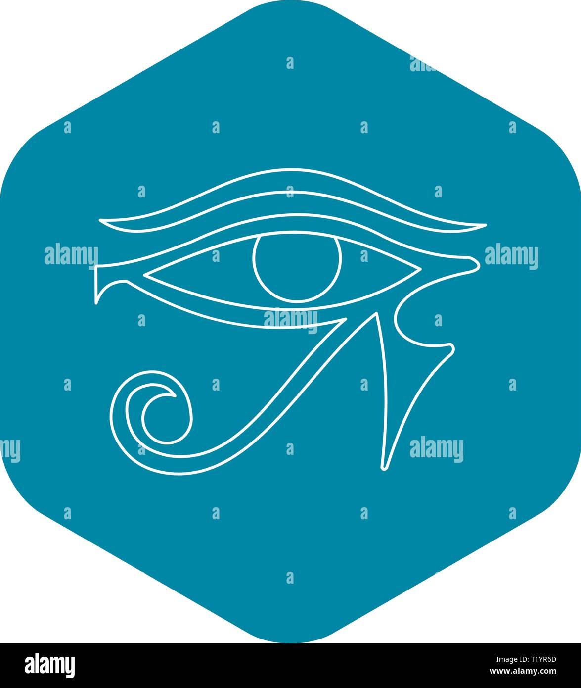 Auge des Horus Symbol, Umriss-Stil Stock Vektor