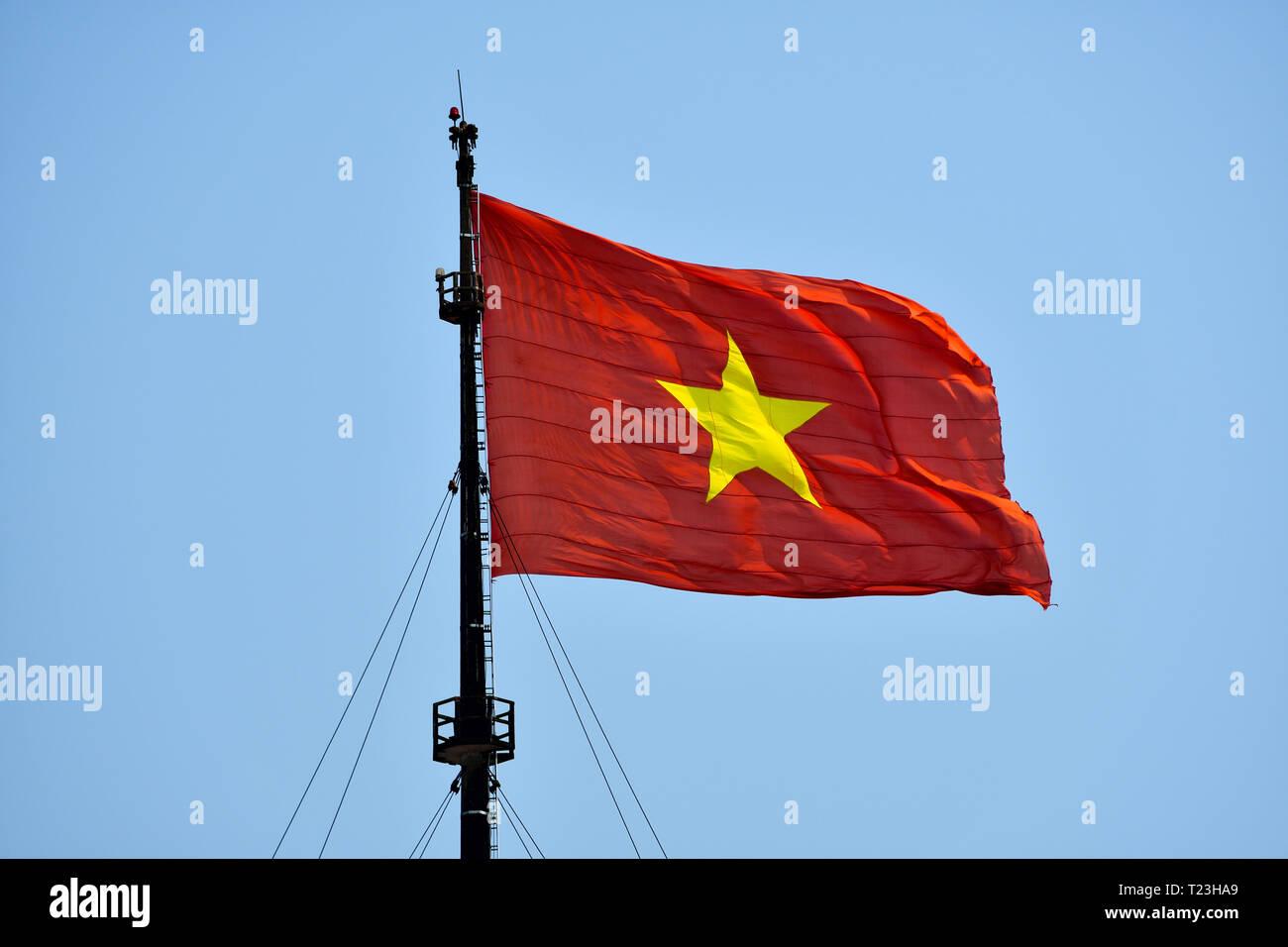 Gelben mit fahne stern rot Flagge Rot,