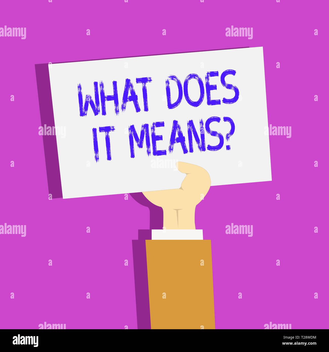 Konzeptionelle Handschrift zeigt, was es bedeutet. Konzept Sinn ...