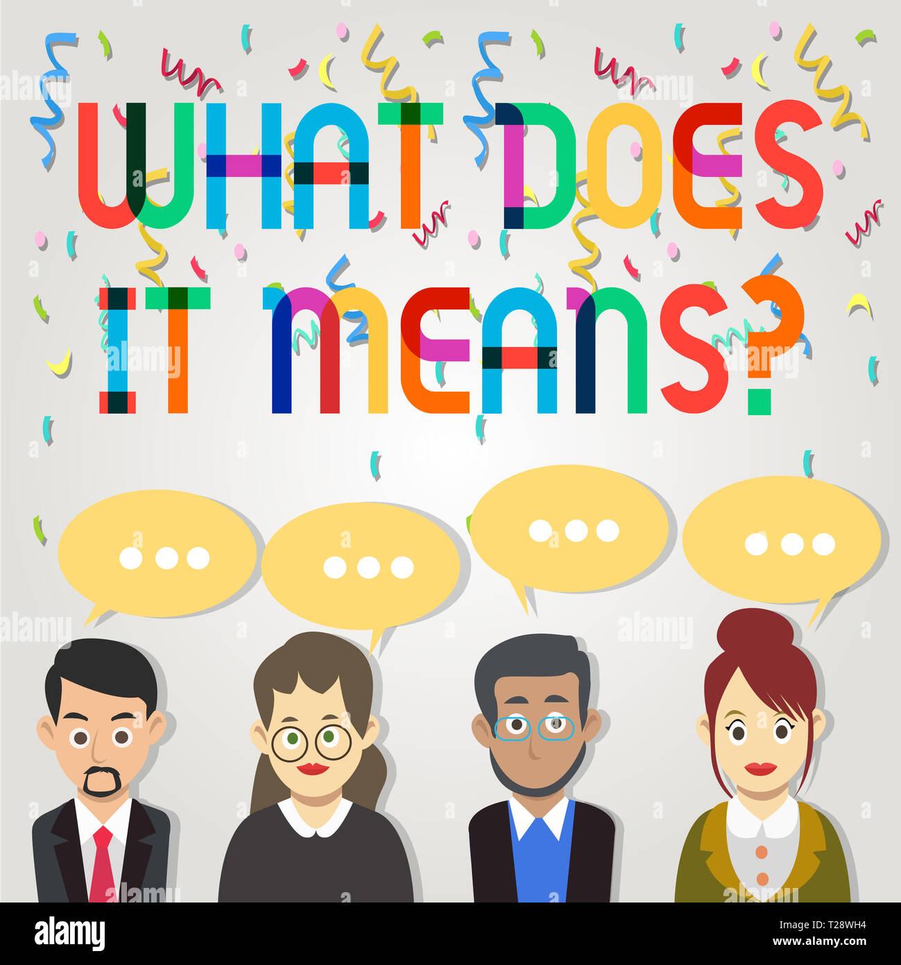 Text Zeichen zeigen, was es bedeutet. Business Foto zur Schau ...