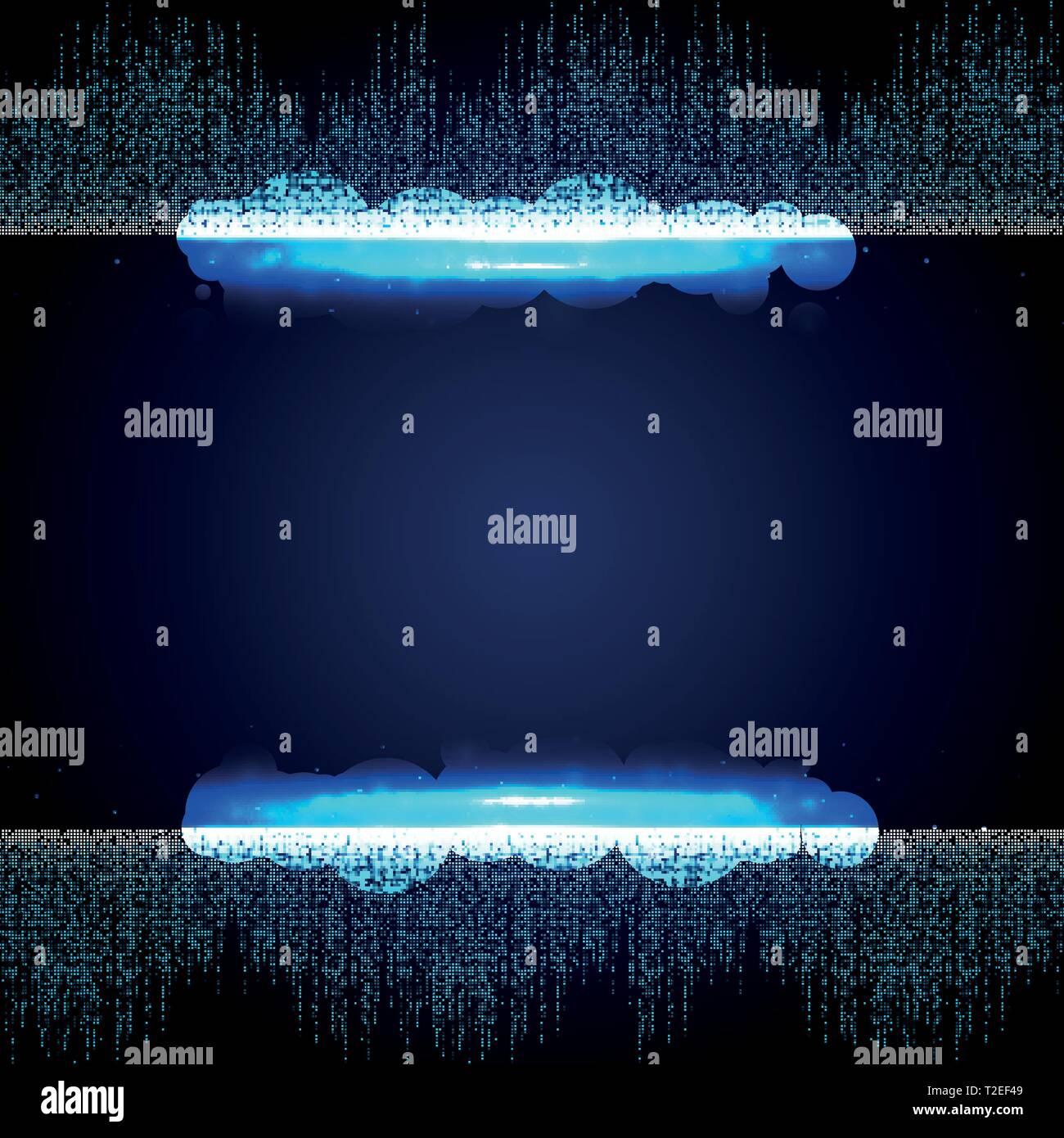 Abstrakt Blau futuristisch aus quadratischen Zusammenhang Muster Hintergrund. Sie können für die grafische Gestaltung, Hi Tech, Plakat, Buch, Artwork illustration Vektor verwenden. Stockbild