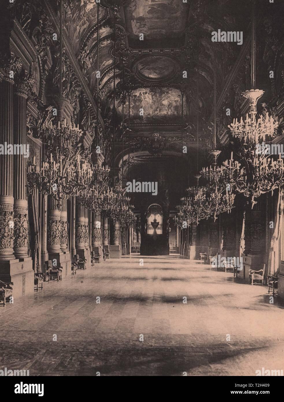 Intérieur de l'Opéra Stockbild