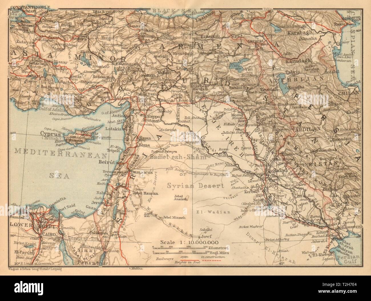 Syrien Irak Karte.Syrien Mesopotamien Und Babylonien Irak Levant Turkei