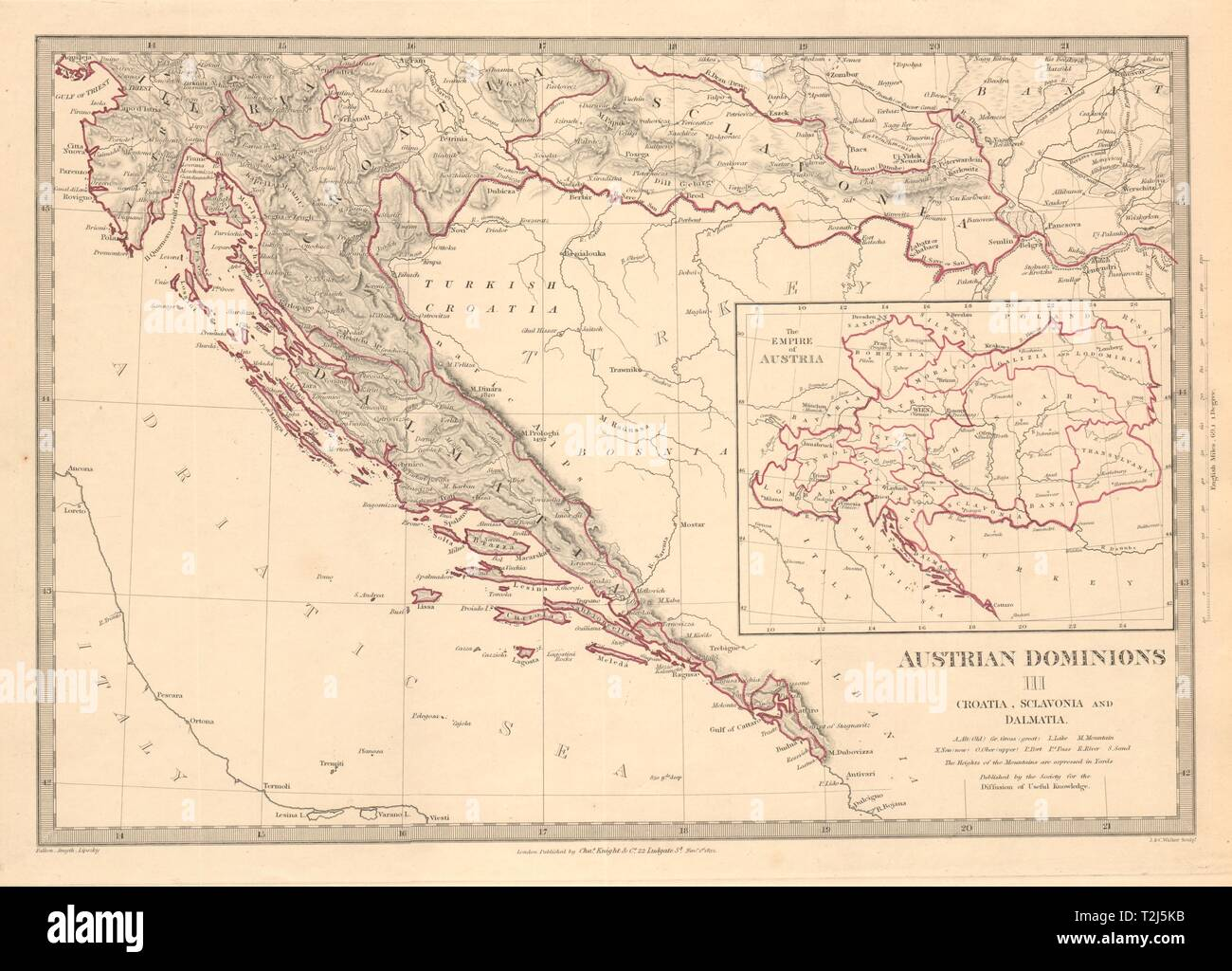 Istrien Karte Zum Ausdrucken.Dalmatien Karte Stockfotos Dalmatien Karte Bilder Alamy