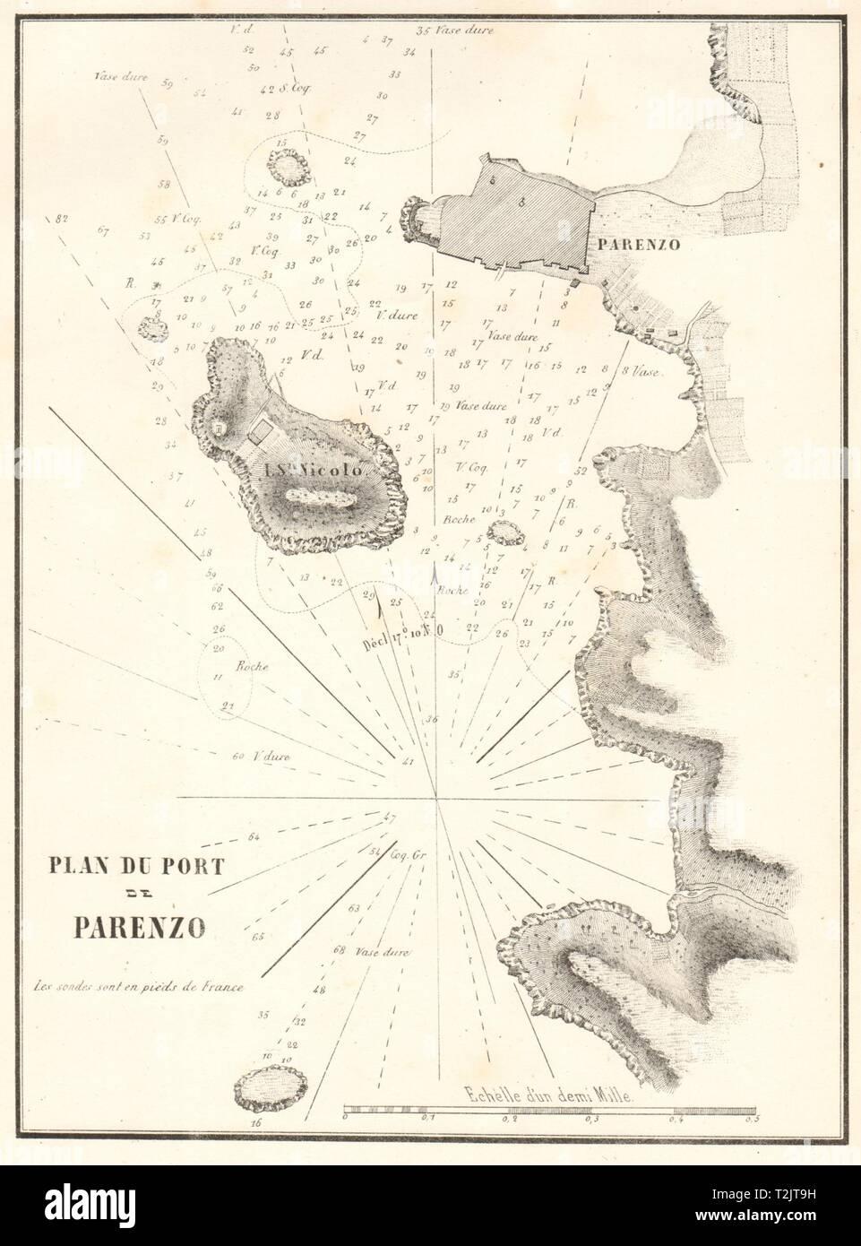 Karte Istrien Kroatien.Der Hafen Von Porec Plan Du Port De Parenzo Kroatien