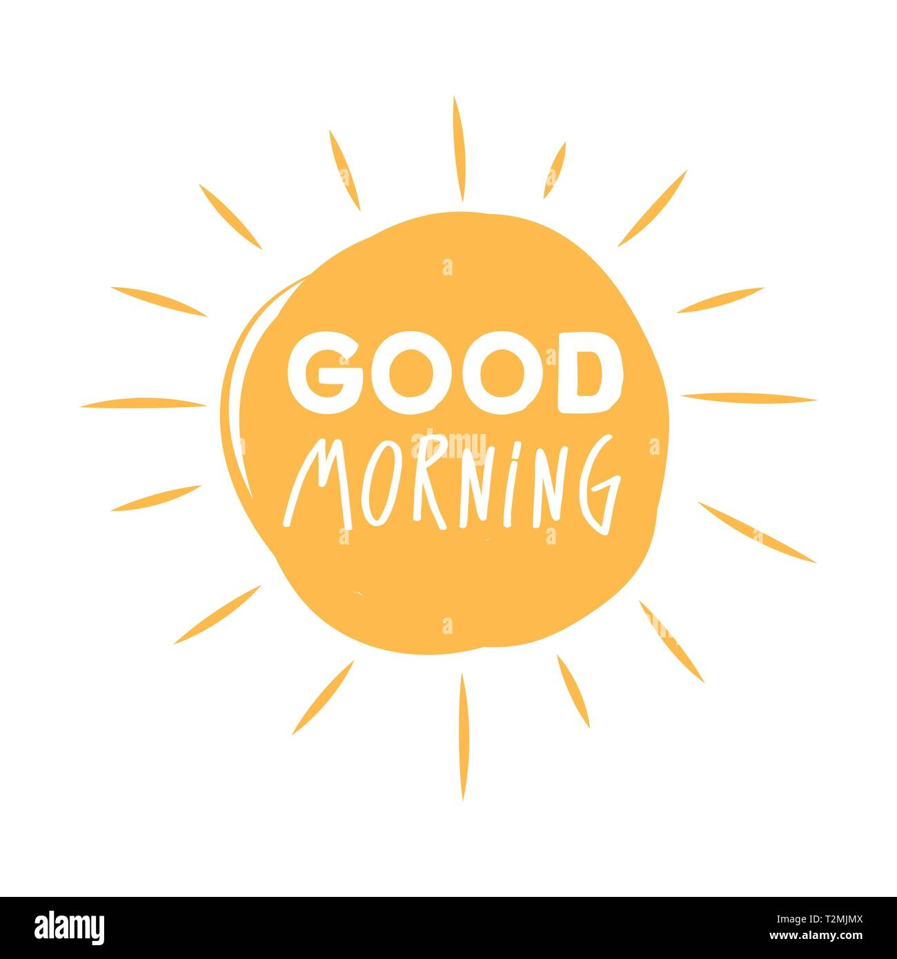 Guten Morgen Sonnenschein Symbol Mit Guten Morgen Schrift