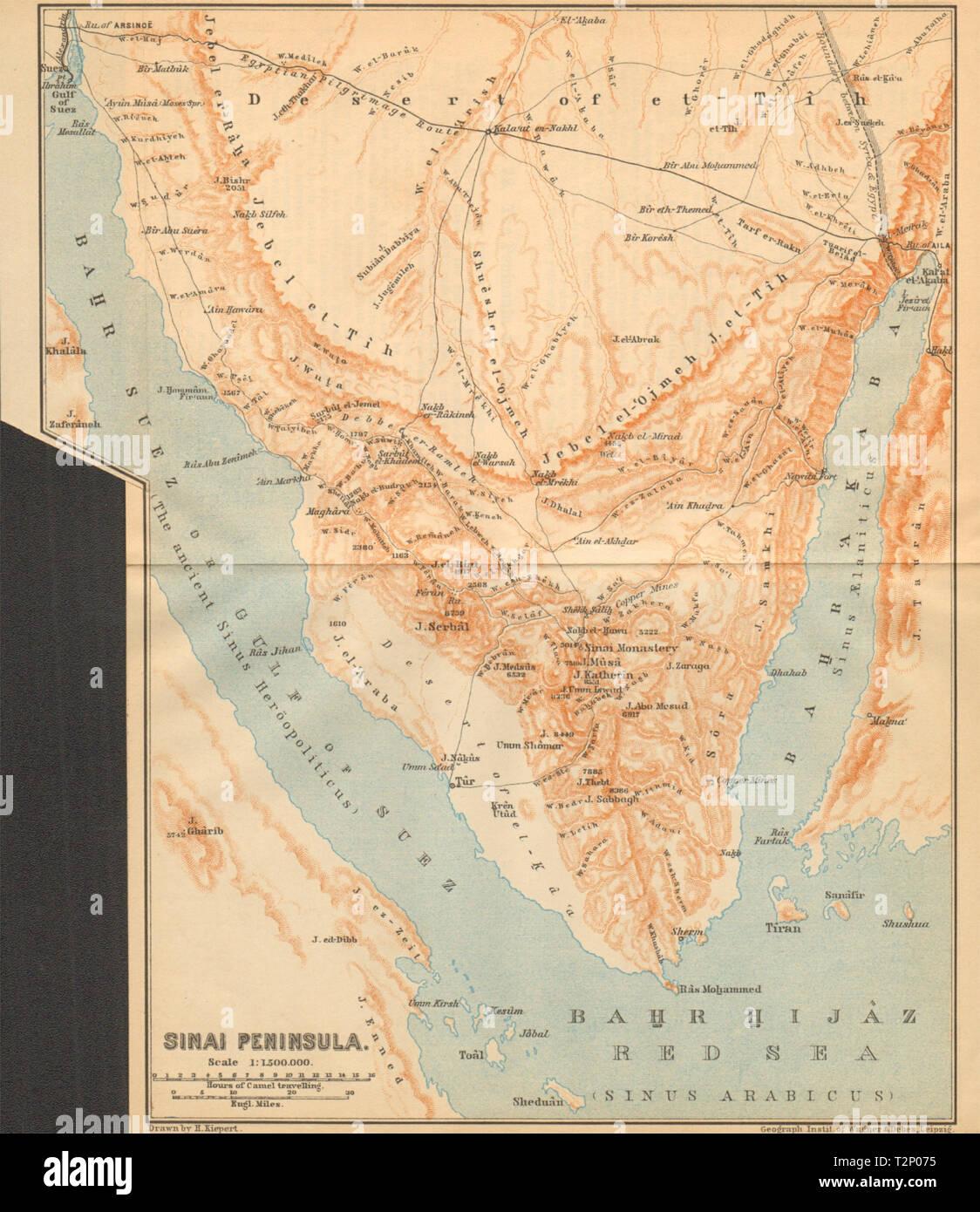 Karte ägypten Sharm El Sheikh.Halbinsel Sinai ägypten Golf Von Aqaba Und Suez Sharm El Sheikh