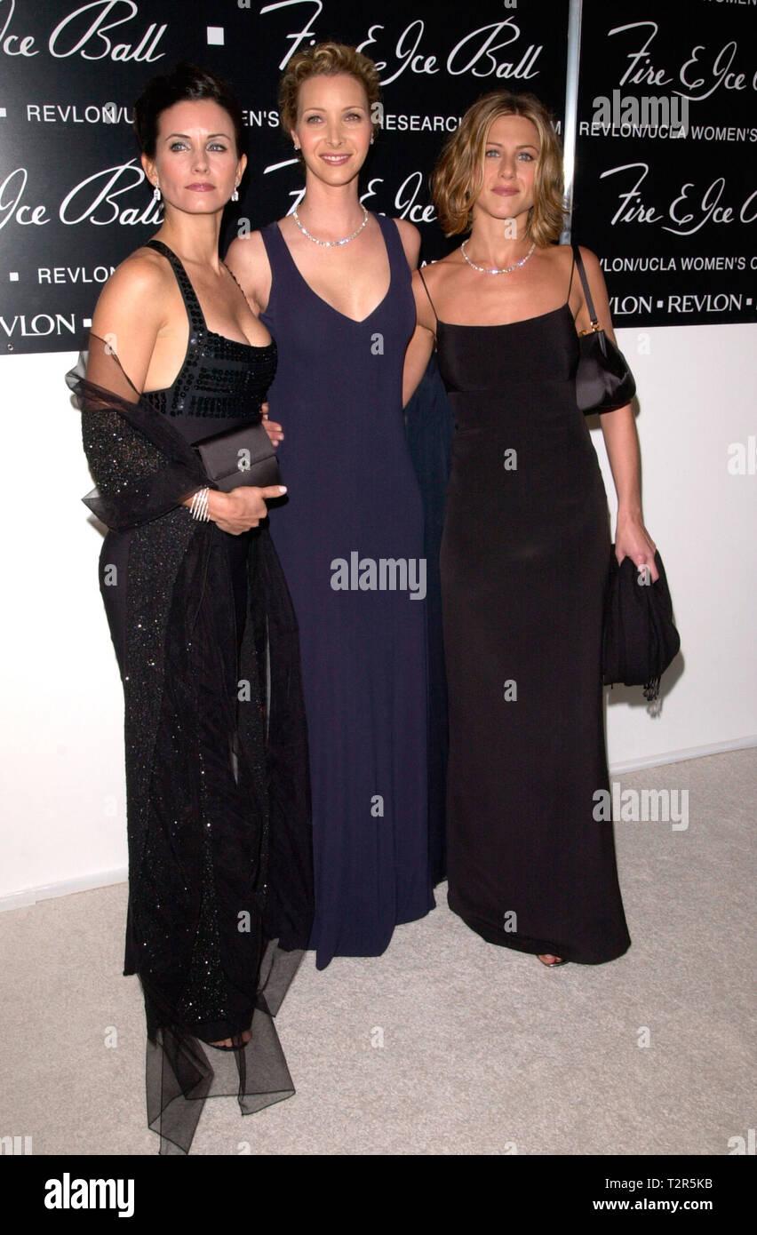 Courteney Cox Arquette Und Jennifer Aniston Stockfotos Courteney