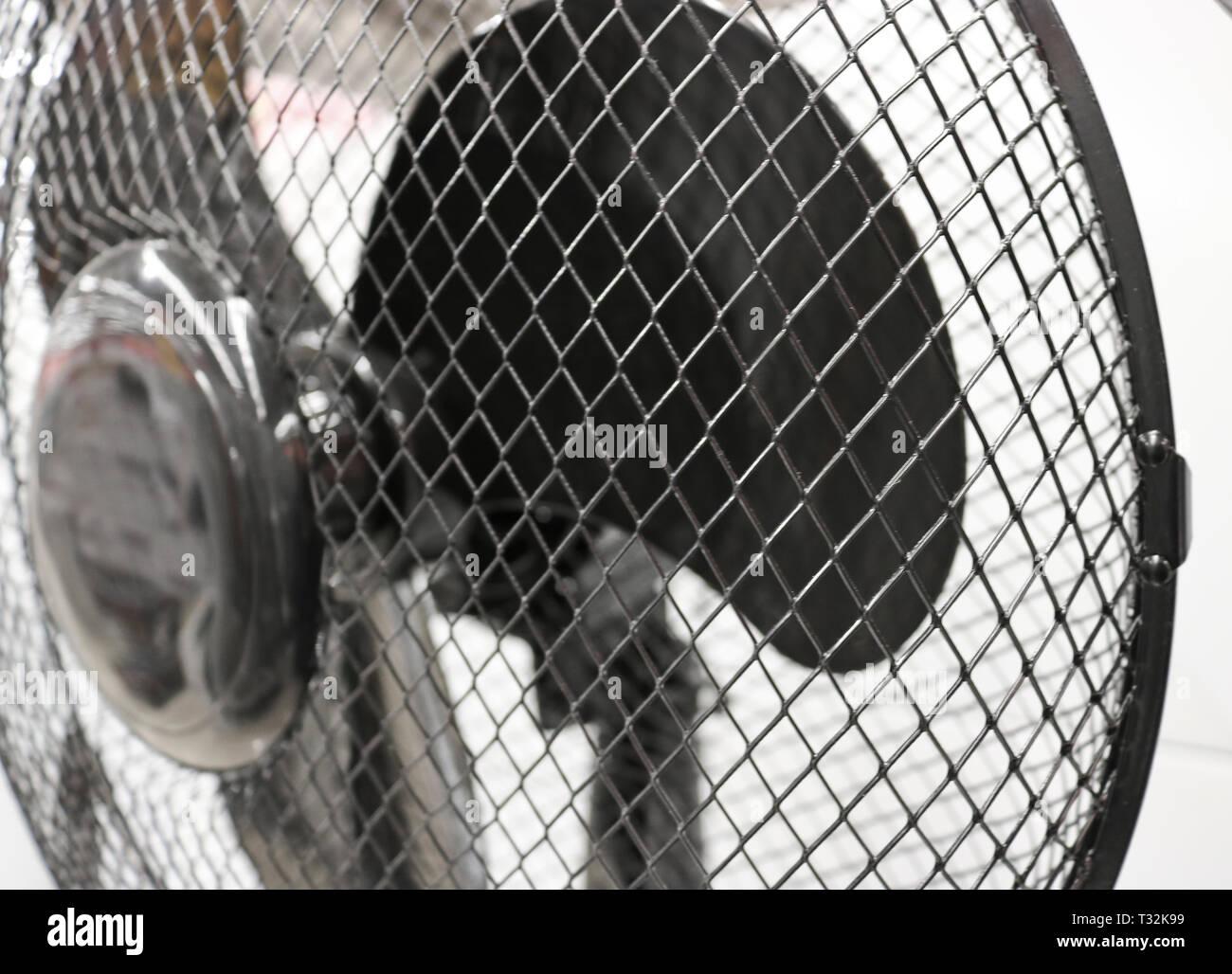 Schutzgitter für Lüfter close-up Stockbild