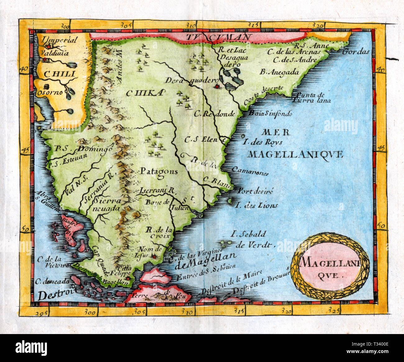 Chile Patagonien Karte.Antike Karte Von Patagonien Oder Den Sudlichen Kegel Aus