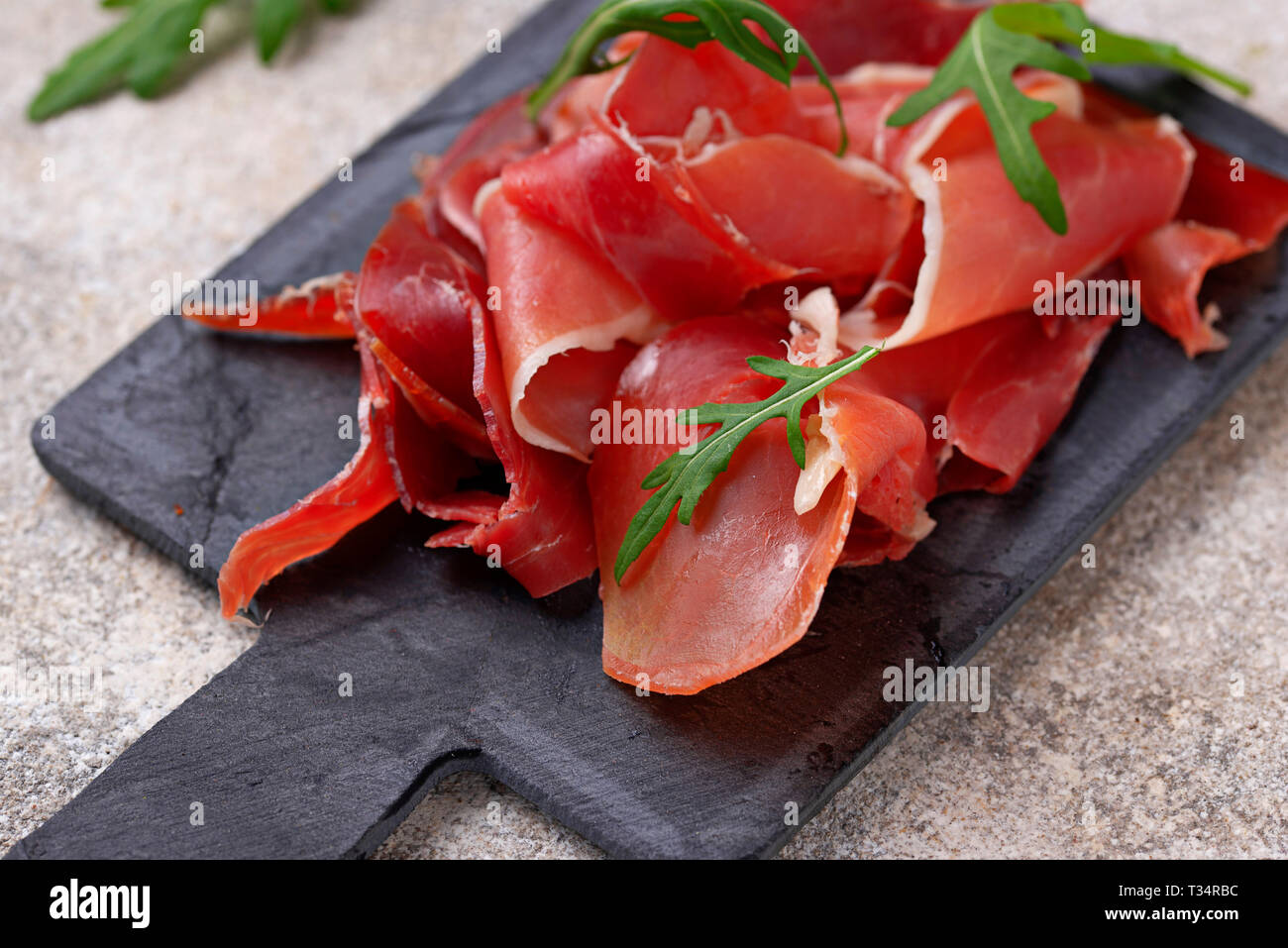 Traditionelle spanische Wurstwaren jamon Stockbild