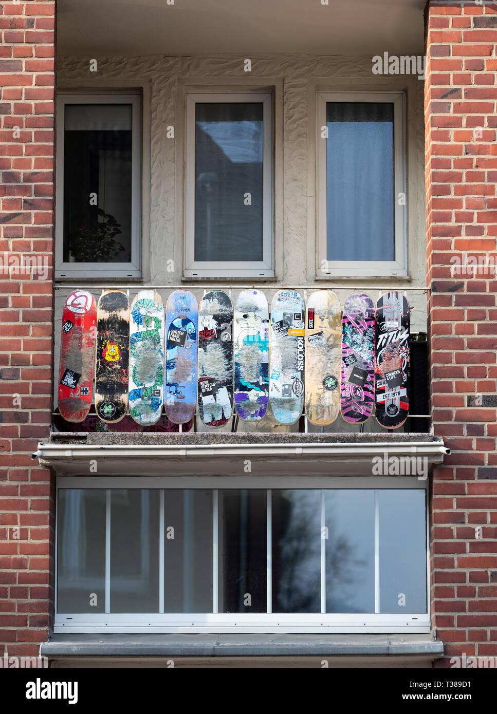07 April 2019 Nordrhein Westfalen Münster Skateboards Hang Als