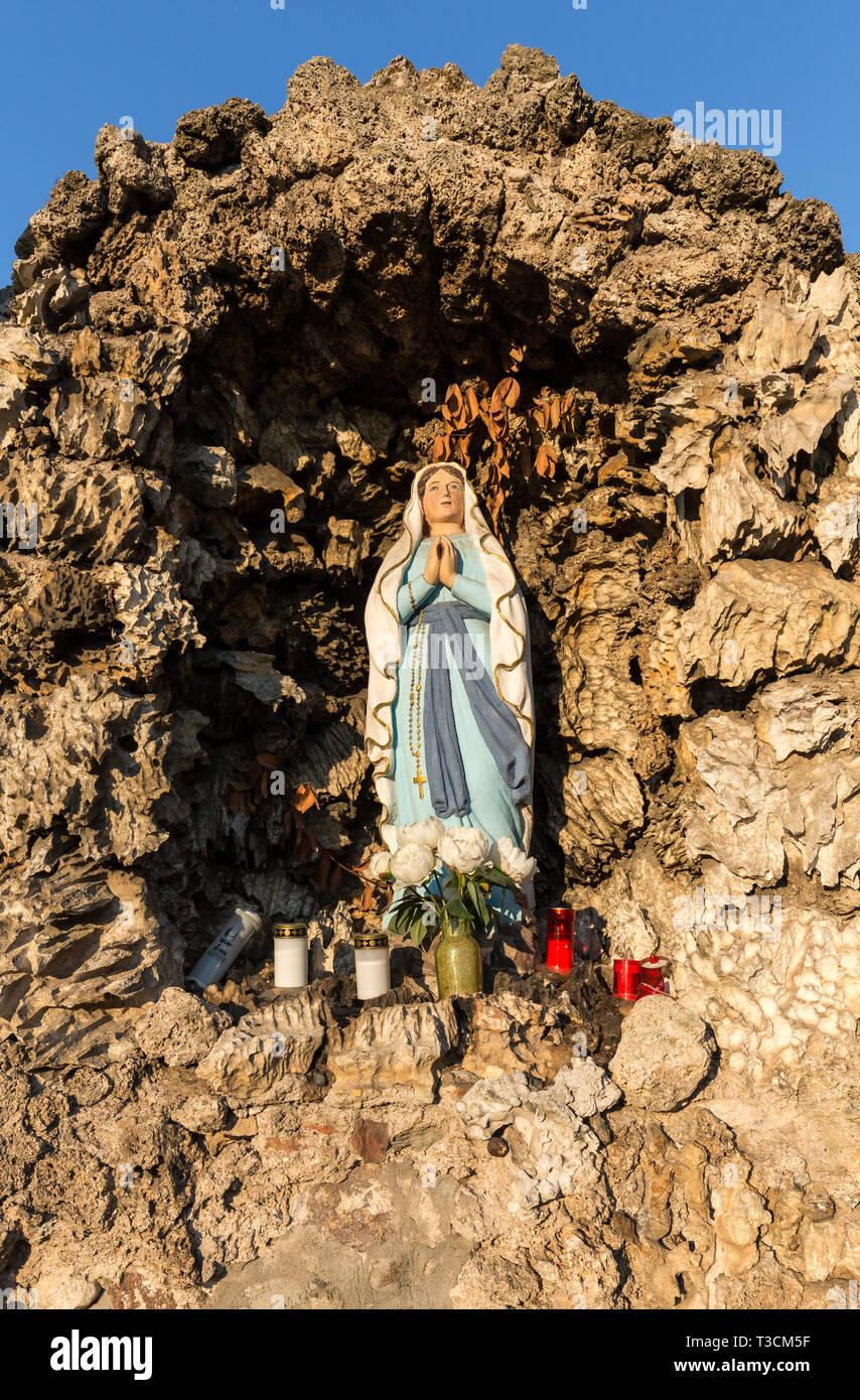 Alten Bildstock in Lazise am Gardasee in Italien Stockbild