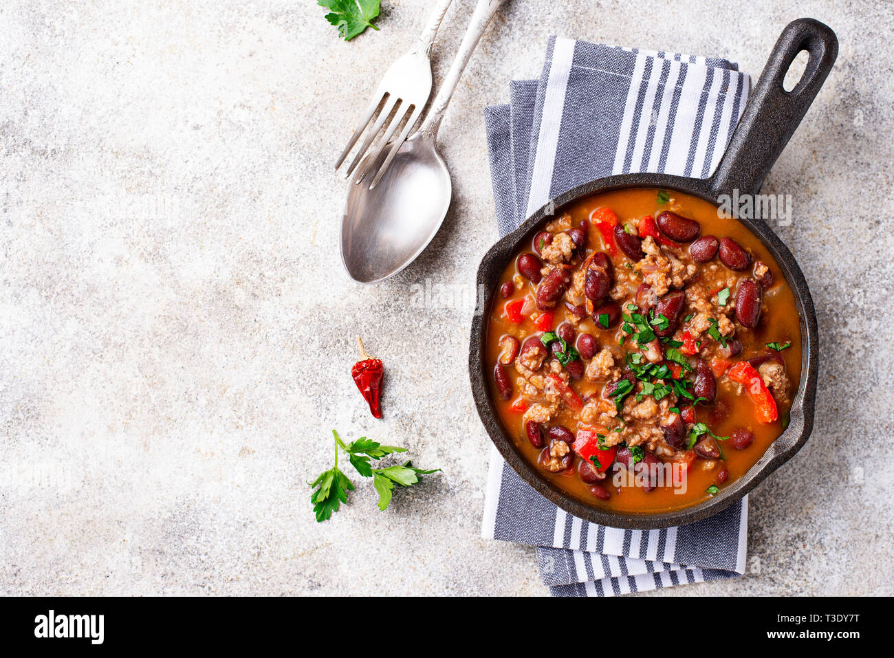 Traditionelle mexikanische Gericht Chili con Carne Stockbild