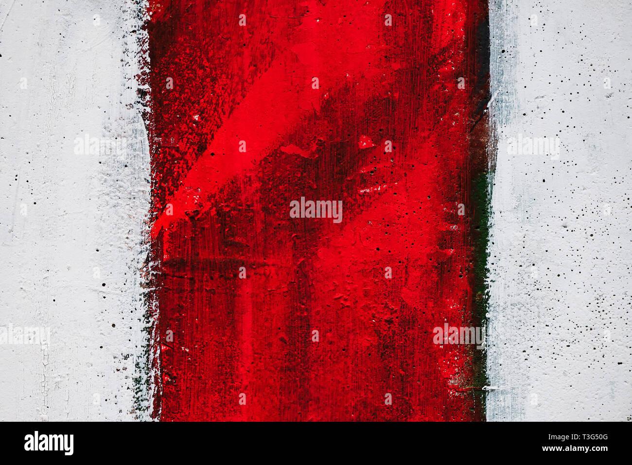 Rote Und Weisse Farbe Streifen Muster Auf Der Wand Grunge Texturen