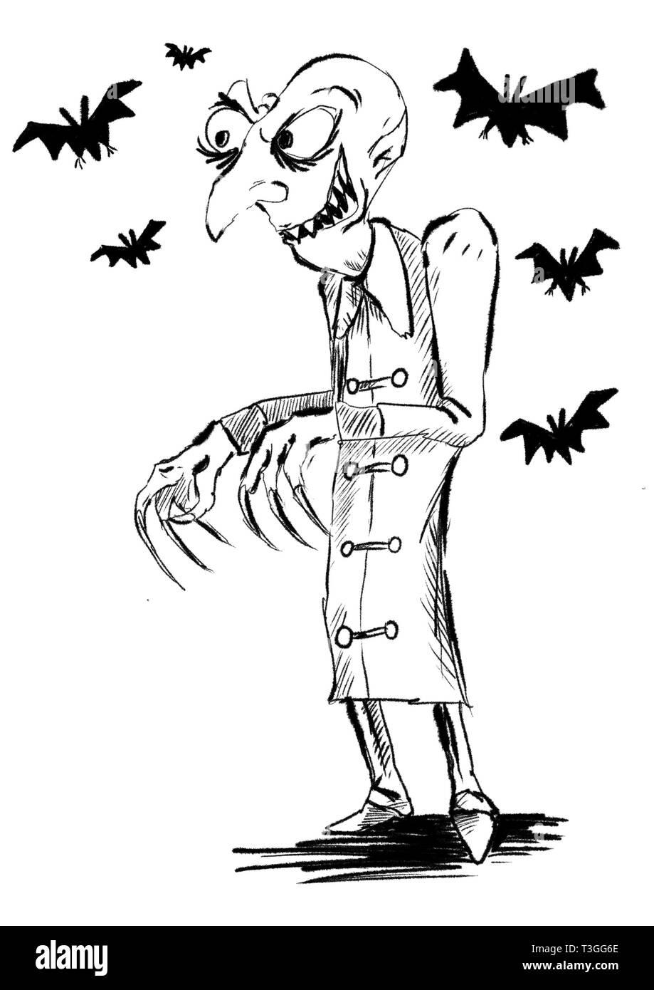 Vampire Abbildung Stockbild