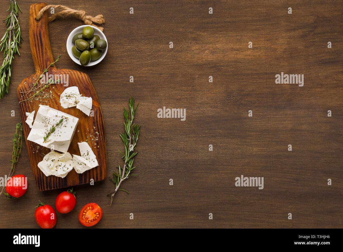 Griechische Küche Rezepte Konzept Stockfoto, Bild: 243176898 - Alamy
